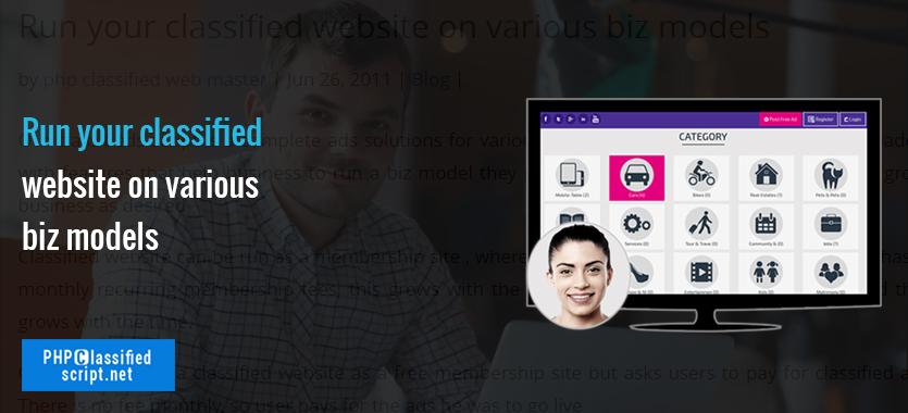 Run your classified website on various biz models