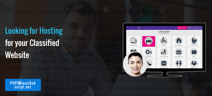 Looking for Hosting for your Classified Website